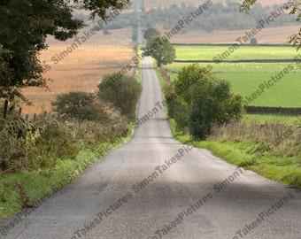 British Roman Road Photograph Derbyshire Landscape Digital Download