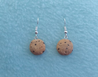 Chocolate Chip polymer clay earings