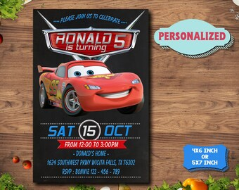 Disney Cars Invitation / Disney Cars Birthday / Disney Cars party / Disney Cars Birthday Invitation / Disney Cars Printable / Disney Cars