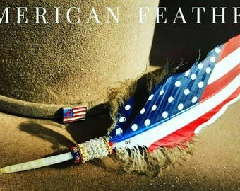 Limited Edition Classic American Feather (Beaded) 11""