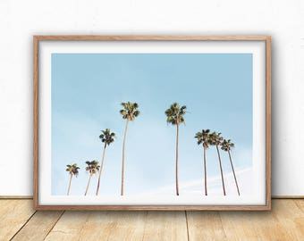 Palm Trees Print - Tropical Wall Art, Digital Download, Hawaii Art, California Print, Landscape Photography, Nature Art, Large Poster Print