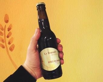 Beer label,  Wheat ear, Blond,  Belgian, watecolor, DOWLOADABLE
