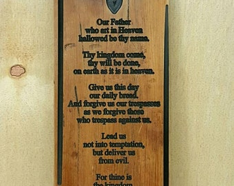 Rustic 'The Lords Prayer'