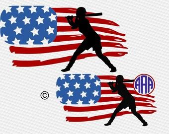 American flag svg, Baseball svg, Baseball mom svg, Baseball sister svg, SVG Files, Cricut, Cameo, Cut file, Clipart, Svg, DXF, Png, Pdf, Eps