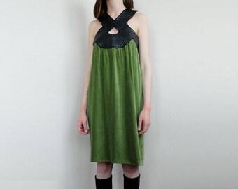 Vintage Jean Paul Gaultier velvet green dress