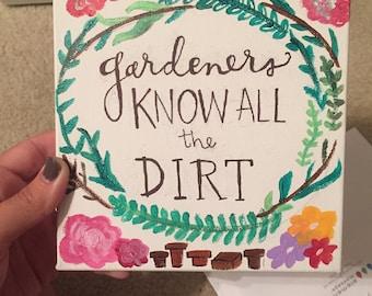 Gardener Canvas Painting Wall Decor