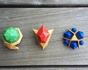 3D Printed (ABS) Zelda Spiritual Stones