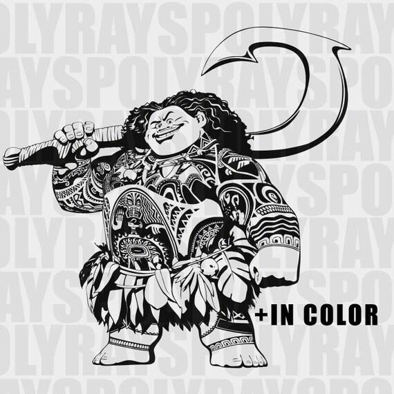 Svg de maui maui clipart moana svg disney svg png vaiana for Maui tattoo stencil