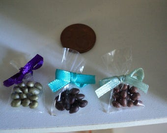 Miniature chocolate easter eggs, 1:12th scale