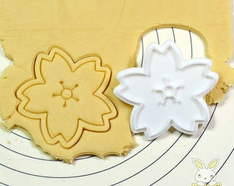 A Cherry Blossom Cookie Cutter and Stamp