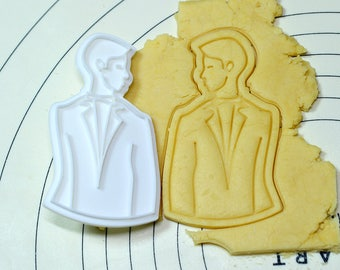 Bridegroom Watching Bride Cookie Cutter and Stamp