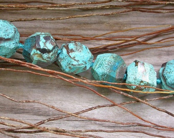 2 beads 16mm Crazy Lace Agate - faceted stone