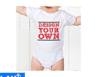 Custom Personalised Embroidered Baby Onesie