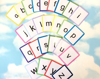 Alphabet flash cards, Lowercase letters, Alphabet learning cards, Nursery, Children's development, Educational toy, Early years, EYFS