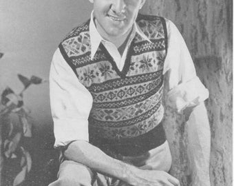 Men's Fair Isle Knit Vest