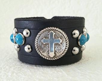 Cross Leather cuff