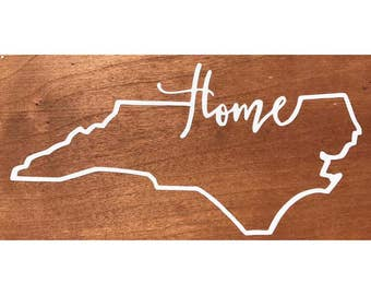 "North Carolina ""Home"" Vinyl Decal"