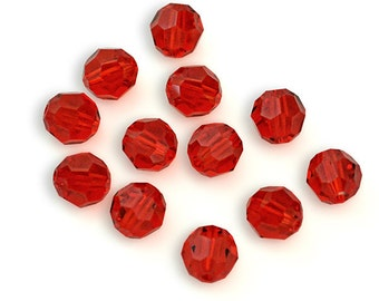 Swarovski Crystal Round Light Siam Beads 5000- Available in 4mm, 6mm, 8mm