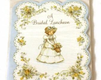 Vintage Bridal Luncheon Invitations, Bridal Shower Invitations, Luncheon Invites, Vintage Wedding, Shower Invitations,