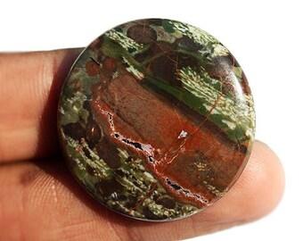 Beautiful Round Shape Natural Dragon Blood Jasper Cabochon, Gemstone From Australia, Jewellery Making, Semi Precious, Pendant Stone, 1536