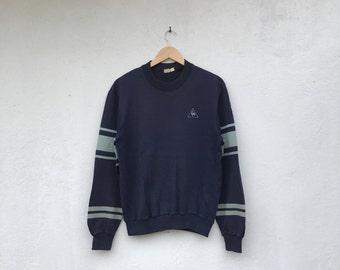 Vintage LE COQ SPORTIF striped small logo sweatshirt