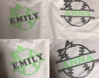 Baseball Shirt/Onesie - Girls/Kids/Baby
