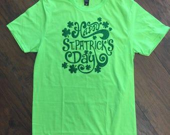 Adult LG Happy St. Patrick's Day Tee