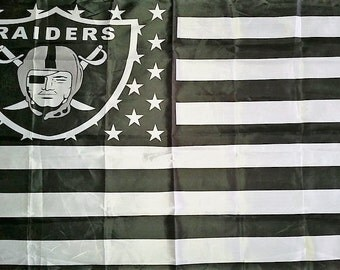SUMMER SALE Oakland Raiders Team Flag and Banner 3' x 5'