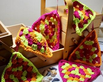Bunting, Neon Bunting, Party Bunting, Crochet Bunting, Crochet Party Bunting, Neon Crochet Bunting