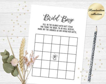 Bingo cards, Printable bridal shower bingo game, Printable bingo cards, Bridal bingo, Gift bingo, Wedding bingo cards 5x7, Wedding downloads