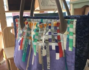 Shoulder bag, Quilted bag, Handmade bag, Hand bag,3compartments
