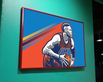 Russell Westbrook - Oklahoma City Thunder - Art Print