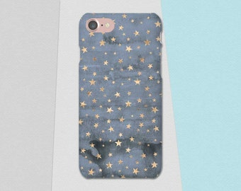 Blue Gold Phone Case, Stars Phone Case, iPhone 6S Case, Blue iPhone 7 Case 6s Plus 5 iPhone SE Case, Galaxy S7 Case S6 S5 Lg G5 Phone Case