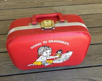 Vintage childs suitcase