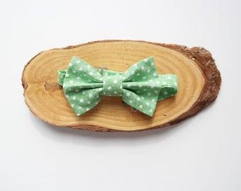 Green Polka Dot Adjustable Bow Tie