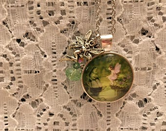 Frog and Fairy Friends Charm Pendant Necklace