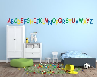 Alphabet wall decals for childrenu0027s room or nursery. Primary colors. Large  print capital letters for walls. ABC wall stickers. ABCs wall
