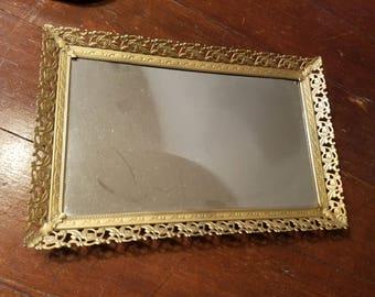 Pretty mirrored tray