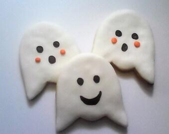 12 Ghost Halloween Cookies Party Favors Halloween Party Favors Baked Goods Sugar Cookies Handmade Cookies Decorated Cookies Halloween Treats