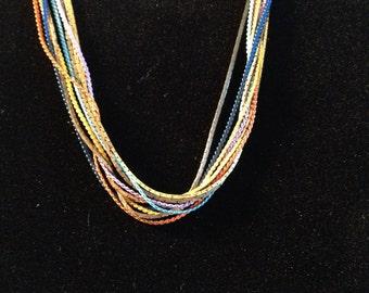 Nine Multi-strand Necklace