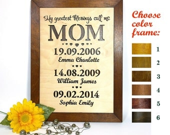 Gift for MOM Wood Frames MOM Gift Personalized Gift for Mom Birthday Gift Mom Birthday Gift for MOM from Daughter Mother's day gift_FW#005