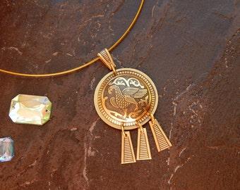 brass pendant. pendant. brass suspension. adornment on the neck. pendant for women. gift for women. suspension noisiest