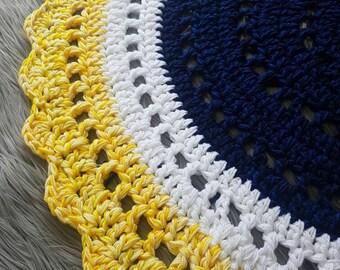 """Crochet """"Sunrise"""" Mandala Nursery Rug"""