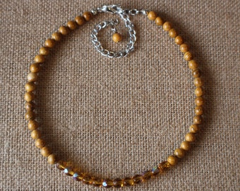 Honey Gemstone Choker Strand