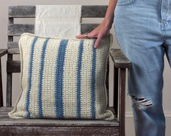 Indigo Stripe Pillow Pattern