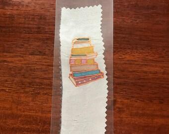 Hand painted silk bookmark