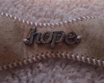 Hope baseball cuff bracelet