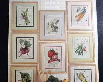 From the Garden Cross Stitch Pattern Leaflet Vegetables Leisure Arts 413