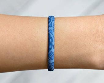 Blue Bracelet, Blue Cuff Bracelet, Blue Jewelry, Aquamarine Bracelet, Light Blue Bracelet, Birthday Gifts, Birthday Gift, Gifts For Her