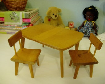 StromBecker Table & Chairs from the 60's, Vintage Nursery Decor